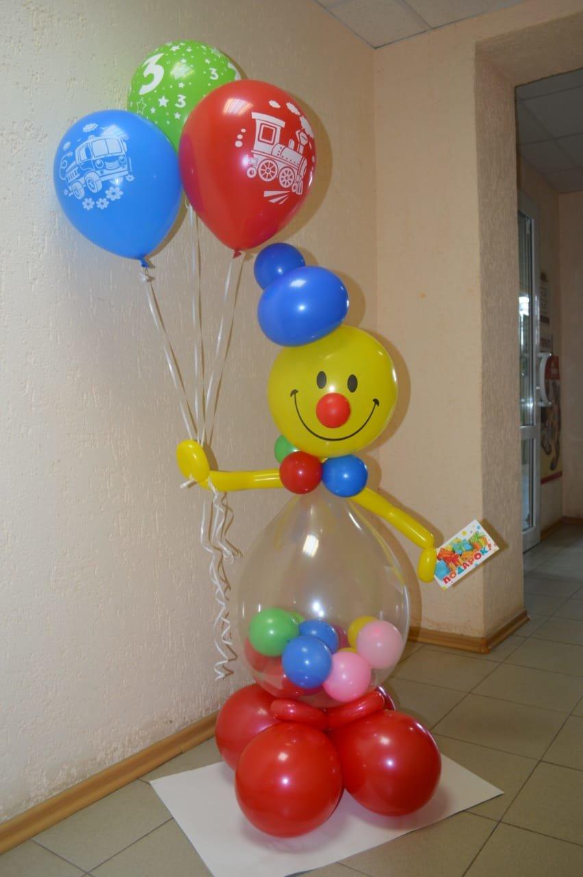 Композиция Клоун с шарами