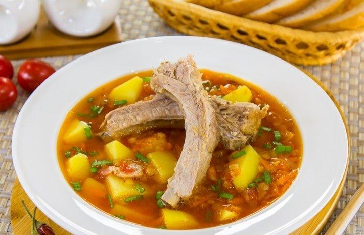 Суп ребрышками