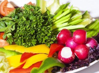Овощное ассорти с зеленью