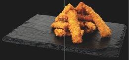Кусочки лосося темпура