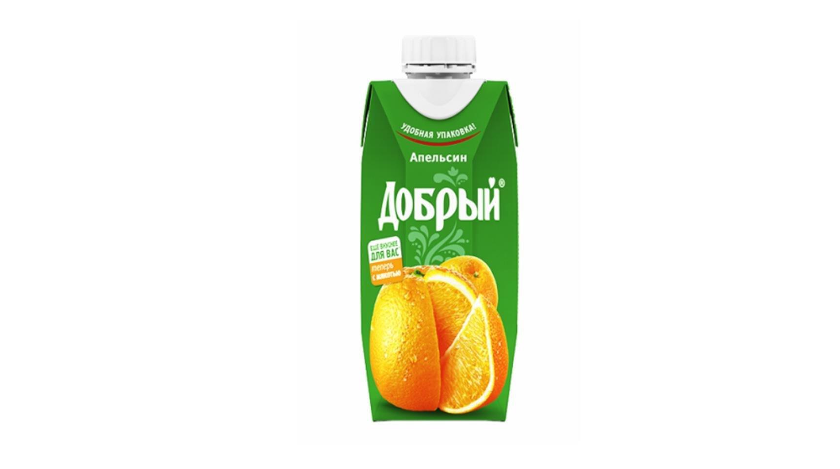 Нектар Добрый апельсиновый 0,33л